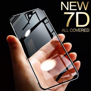 Image 1 - Protector de pantalla de aleación de aluminio 7D para iPhone, Protector de pantalla completo de vidrio templado para iPhone 6 6S 7 Plus X Xs 11 Pro Max Xr SE