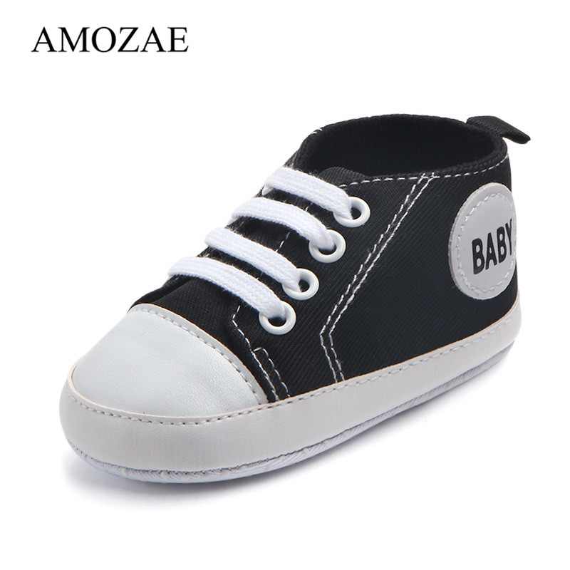 Classic Casual Canvas Baby Shoes Newborn Sports Sneakers Amozae First Walkers Kids Booties Children Footwear For Dropshipping