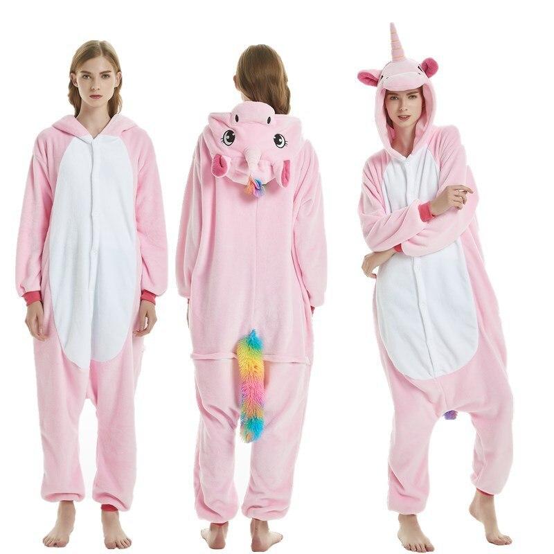 bdf9c4430ec8 New Adult Animal Unicorn Deer Pegasus Pajamas Set Flannel Women ...