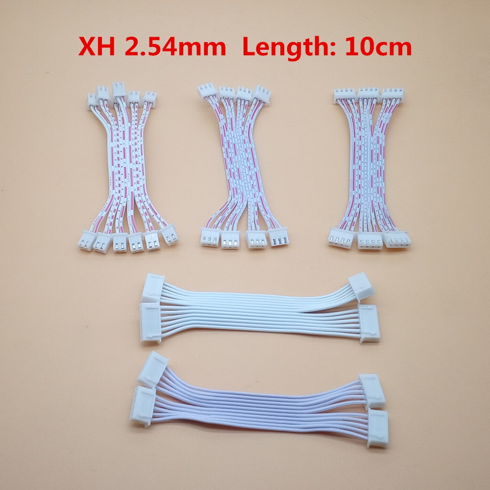 10 Pcs 10cm 2P 3P 4P 5P 6P 7P 8P 9P 10P JST XH Connector Cable Wire 2.54mm Pitch Female to Female