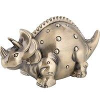 European Creative Crafts Metal Dinosaur Piggy Bank Zinc Alloy Cash Money Storage Box Birthday Gift Home Decor Deposit Box LFB899