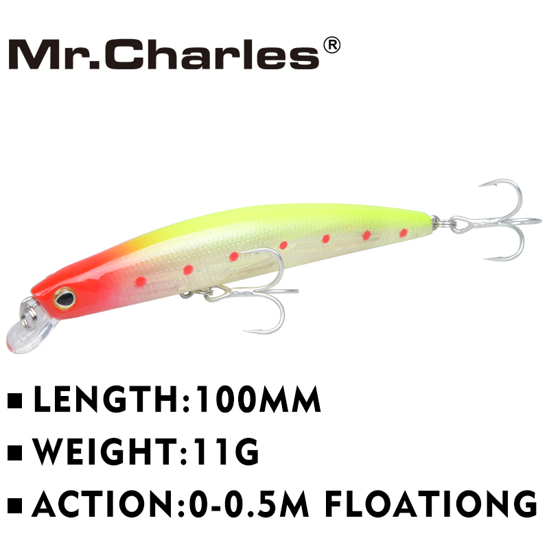 CMC OUTDOORS 2015 new fishing lures 5pcs/lot ,100mm/11g 0-0.5m floating super sinking minnow free shipping
