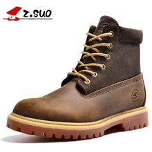 Z. суо мужские Походные ботинки, кожаные мужские ботинки, качество барабан уровне Кроссовки человек