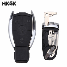 2/3 button Smart Key Case Shell with Battery Clamp Holder for Mercedes Benz W211 A C E G S R SL ML GML CL GL CLS CLA CLK SLK GLK