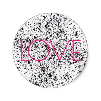 3.8m Love Dalmatian Print Stickers