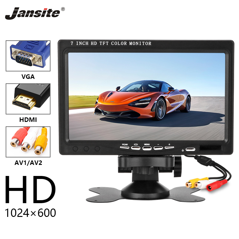 Jansite 7 HD Car Monitor IPS Display Cameras can be computer monitor Reverse Camera Parking System