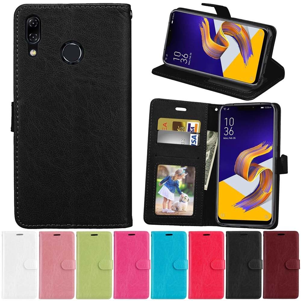 Case for Asus Zenfone 5z ZS620KL Zenfone 5 ZE620KL Case Leather Flip Cover For Asus Zenfone Max Plus M1 ZB570TL X018D Pegasus 4s