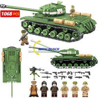 1068Pcs Ww2 Military Is 2M Heavy Tank Building Blocks Sets Compatible Legoingly Russian Army Soliders Weapons Bricks Boy Toys