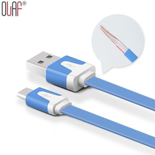 1M Noodle Flat wire Data Charger V8 Micro USB charging Cable For Samsung S6 s5 S4 S3 HTC Xiaomi Huawei phone accessories