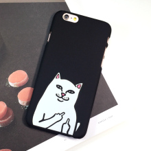 Weird White Cat Plastic Hard Case For Iphone