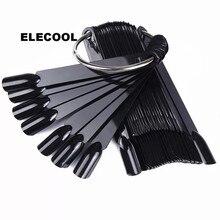 ELECOOL 50 шт. веерообразные накладные кончики для дизайна ногтей палка для украшения ногтей дисплей для салонный уход; Ультрафиолетовый Гель-лак Инструменты для ногтей