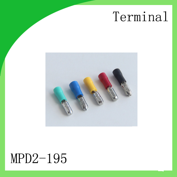 Brass 1000 PCS MPD2 195 cold pressure terminal Cold press type pre insulated terminal insulation bullet
