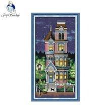 Joy Sunday Chinese cross stitch kits A quiet night pattern Cross-Stitching 14CT 11CT cotton fabric livingroom bedroom decoration