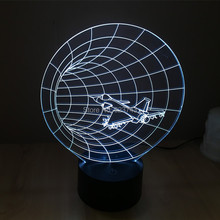 Free Shipping 7 Color changing F15/F16 airplane model 3D Plastic LED Night Light USB led table Lamp for bedsides decoration free shipping rc airplane model hobby spare part t45 red arrow f16 f15 landing gear for tiansheng 70edf plane
