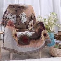 Bohemian Knitted Blanket Cotton Jacquard Sofa TV Thread Blanket Bed/Plane Travel Plaids Rectangular Decor Tapestry