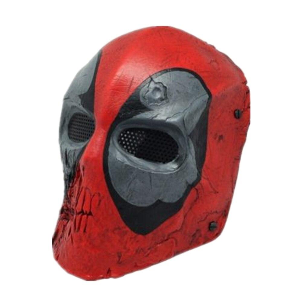 Nouveau masque facial complet danse fil maille Protection Airsoft Paintball crâne masque Prop masque réglable ceinture sangle
