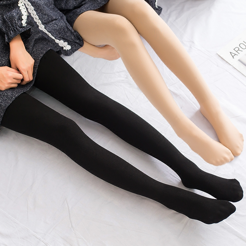 2017 3Pcs Women 280D Microfiber Thermo Fleece Lined Tights Thermo Pantyhose in Solid Black Color Super Soft and Warm for Winter