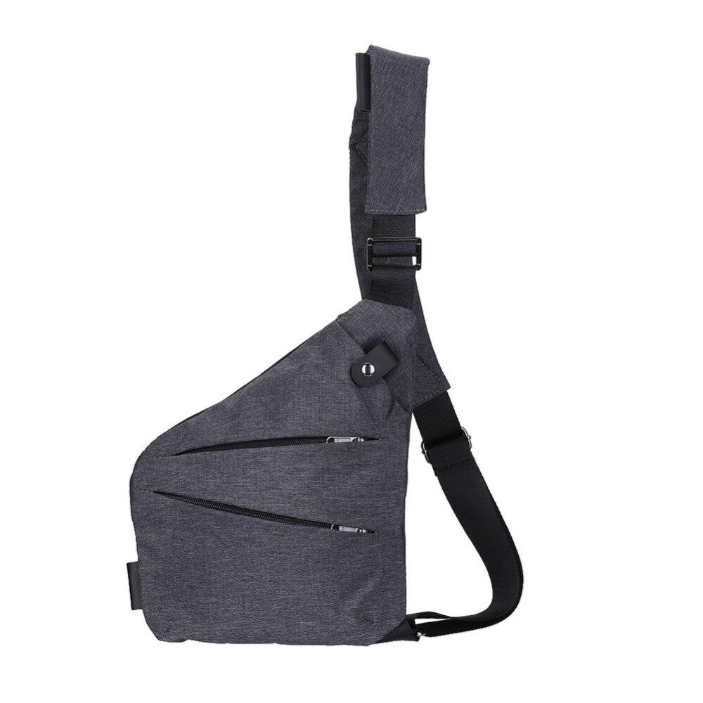 Unisex Anti-Theft pecho masculino hombres ocultos hombro Messenger Bag Casual Retro Crossbody bolso fresco lona motocicleta Honda bolsa