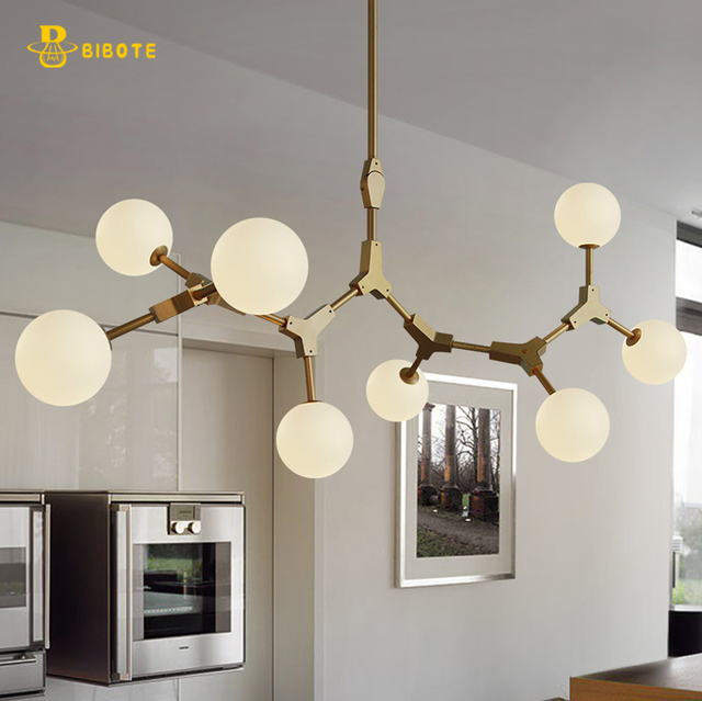 Moderne LED haricots Magiques lustre avec ampoules LED dans le