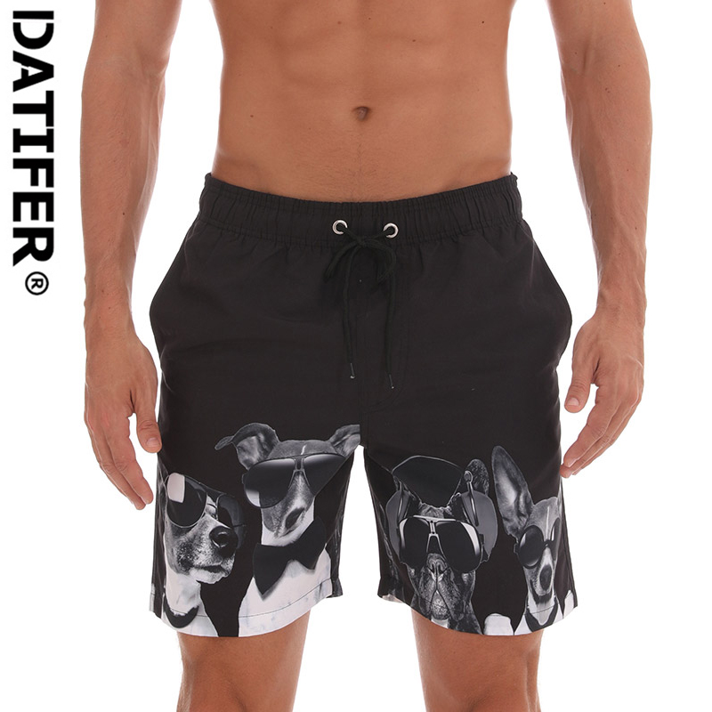 Datifer Men   Board     Shorts   Men Swimming Surfing Beach Sports Pants Quick Dry Boxer Summer Breathable Elastic Waist