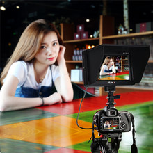 "7"" DC-70II  Clip-on HD LCD HDMI AV Input 4K Camera Video Monitor Display+Battery+Charger"