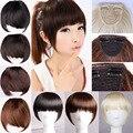 2015 Nova Moda Bonito Meninas Clipe No Clipe Na Frente cabelo Estrondo Franja Extensão Do Cabelo Em Linha Reta 16 Todas as cores Livre grátis