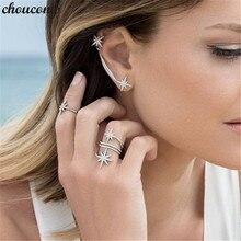 Choucong כוכבים מבטיחים טבעת לבן זהב מלא מיקרו פייב AAAAA cz מסיבת נישואים תכשיטי לנשים אירופאי תכשיטי מתנה