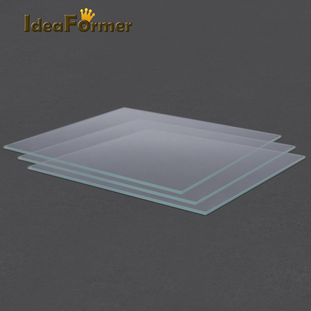 IsMyStore: Reprap MK2 Heated Bed Borosilicate Glass Plate tempered 1 pcs 3D Printer parts glass in good quality