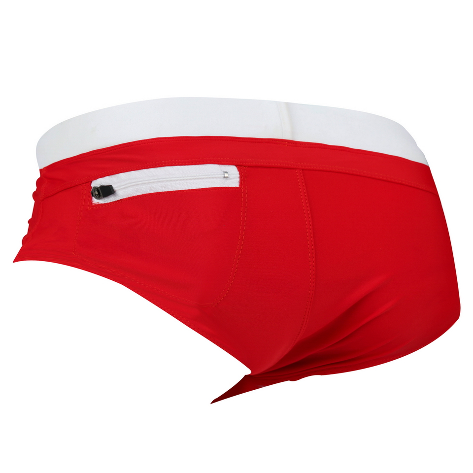 Topdudes.com - New Triangular Swimming Suit Hot Men's Sexy Swimwear with Back Pocket