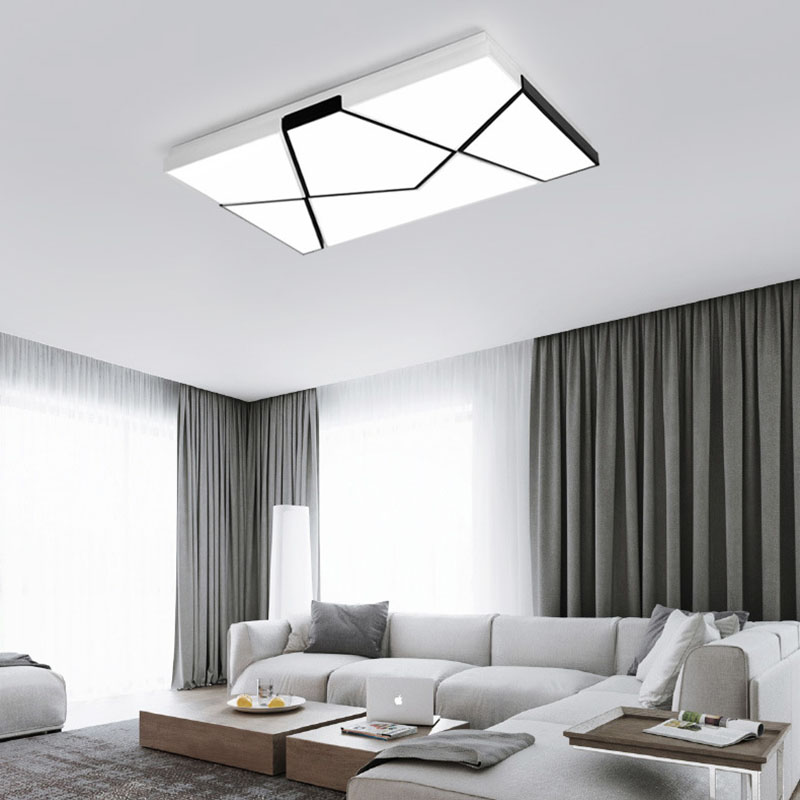 Fashion Style. Led Ceiling Lamp Mounted Ceiling Light Surface light Black White For Home Living Room Bedroom innovative bedroom light fitting main light integrated with reading light matte black white horizontally or vertically mounted