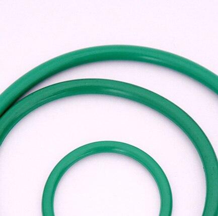 10 шт. 2 мм диаметр проволоки зеленый фторкаучук уплотнительное кольцо кольца Водонепроницаемая изоляционная Резина полоса 60 мм-65 мм наружный диаметр