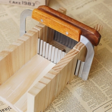 Handmade wooden soap cutting device double slot straight knife wave cutter