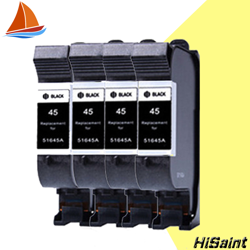 4 pcs ink cartridge for HP45 45  C51645A for HP DesignJet 700/750C/750C/Plus755CM/OfficeJet Pro 1150 free shipping hot sale