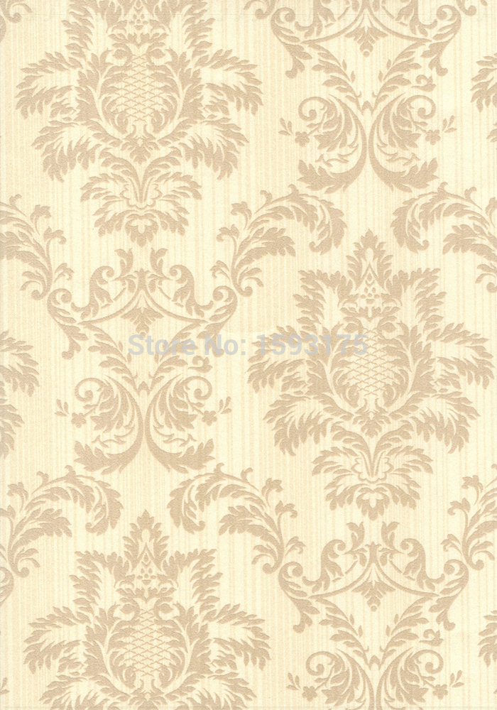 Best price european flock non woven metallic floral damask for Wall style wallpaper
