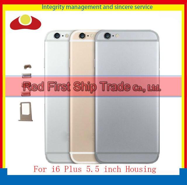 Reemplazo de alta calidad para iphone 6 plus 5.5 inch volver trasero cubierta de La Batería Vivienda Puerta Cubierta Gris de Oro Rosa De Plata Negro
