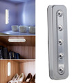 Wireless Tap Lights 5-LED Self-Stick Wall Emergency Wardrobe Cabinet Push Night Light Closet Light Battery Powered FULI