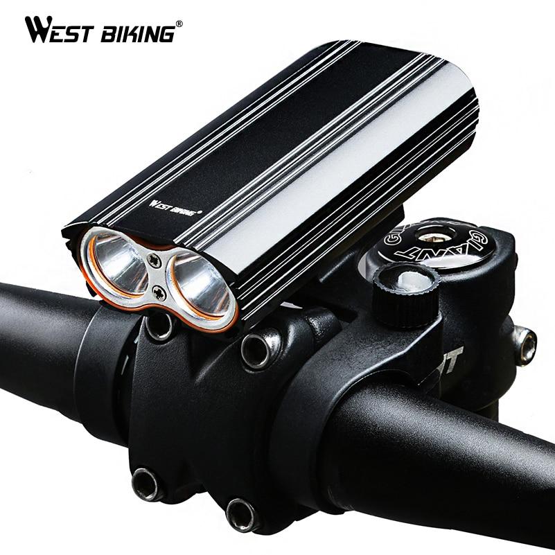 WEST BIKING Dual Two Lights Bicycle Headlight Waterproof T6 Bulb Double Bracket USB Rechargeable Flashlight Strong Bike Light туфли nine west nwomaja 2015 1590