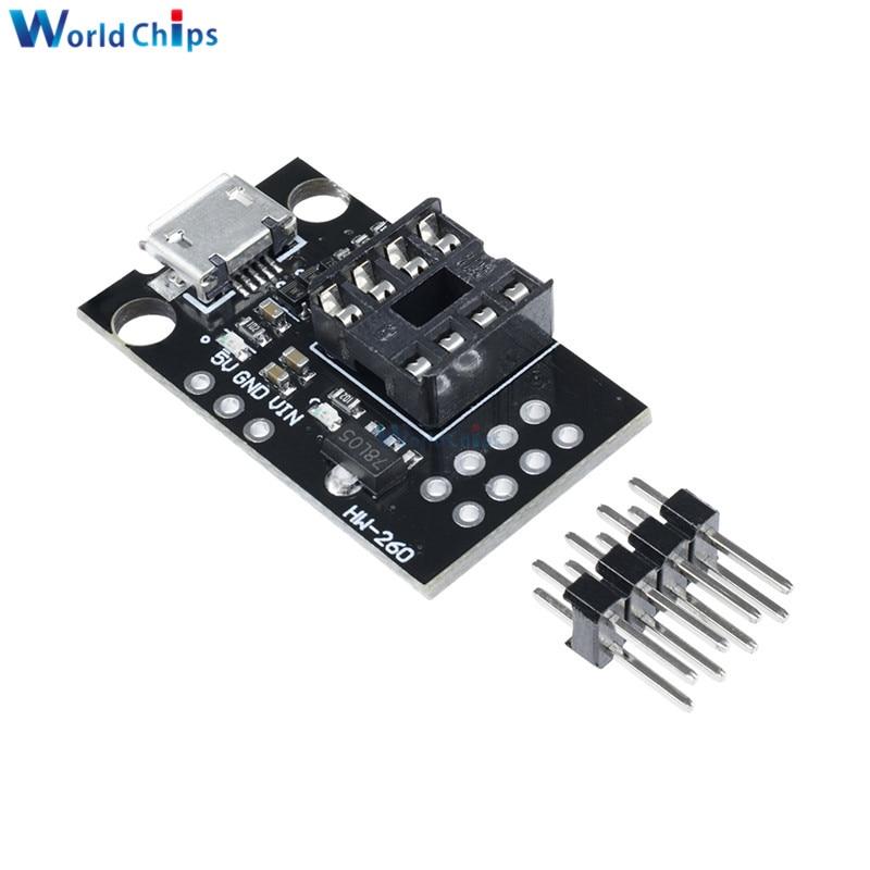 Mini ATTINY85 Micro USB Development Programmer Board DIP-8 For Tiny85-20PU W0A1