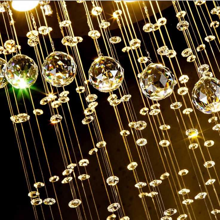 Xoắn ốc Đèn Chùm Pha Lê Dài Đèn Chùm Pha Lê Hiện Đại Led Pha Lê Sang Trọng Đèn Chùm Lớn Pha Lê Sang Trọng Treo Đèn