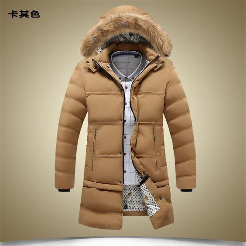 ФОТО 2016 Winter Men's X-Long Fashion Parkas Warm Coat Men's Jacket Down Jacket Parkas Winter Rlx Jacket Icea Bear Outwear Coat A2204