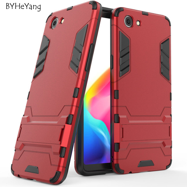more photos d2504 df097 US $3.05 |For Oppo Realme 1 Case TPU+PC Armor Shockproof Stand Silicone  Rubber Back Cover For Oppo Realme 1 one CPH1859 CPH1861 Fundas-in Fitted  Cases ...