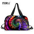 FORUDESIGNS Rainbow Persian Style Women Yoga Mat Sport Bags Independent Waterproof Shoes Pocket Dirty Pocket Men Travel Bags