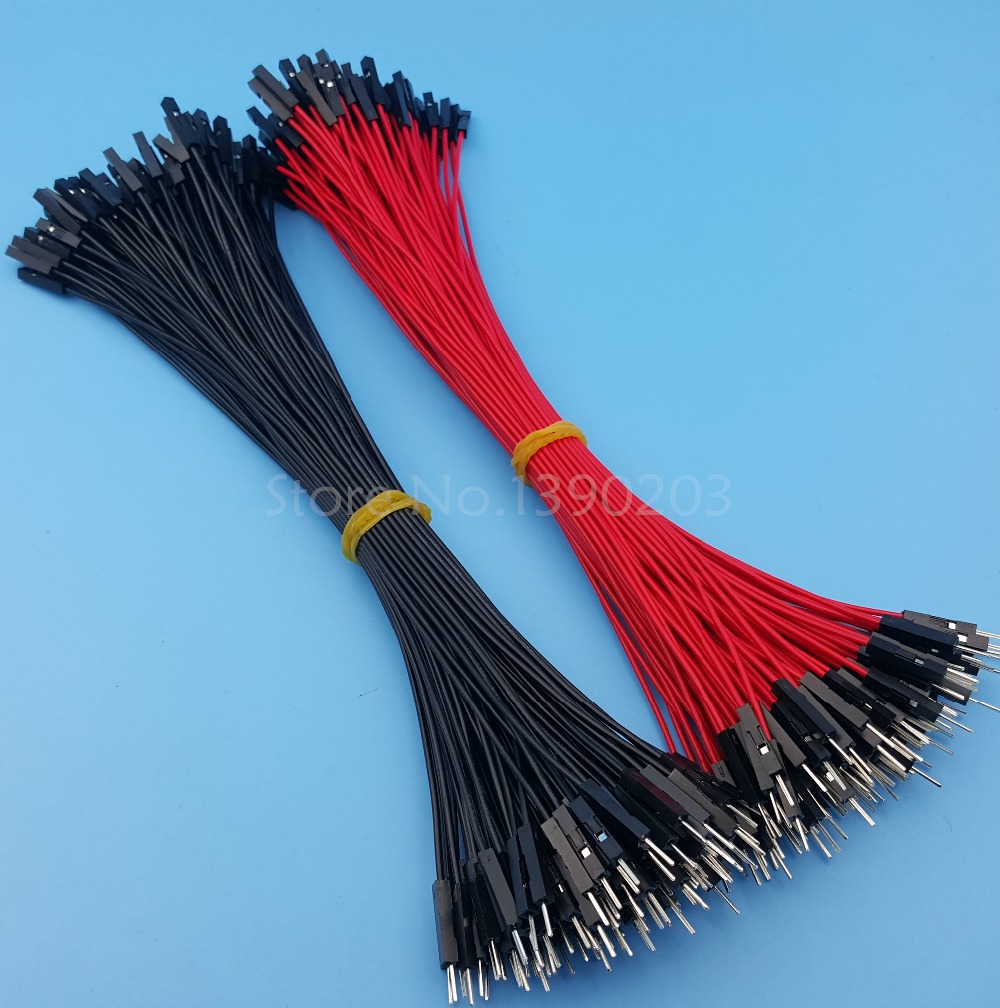 100Pcs Male To Male Red Black 26AWG 20CM Dupont Wire Jumper Cable Connectors