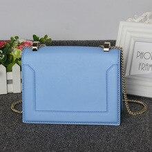 2016 new leather handbag small square package tide fashion handbags diagonal portable shoulder Messenger