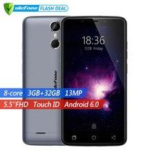 Ulefone Vienna Оригинальный Мобильный телефон 5.5 дюймов FHD MTK6753 Octa Core Android 6.0  32 ГБ +RAM 3 ГБ  Основная камера 13MP  Сканер отпечатков пальцев 4G Смартфон