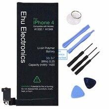 Новый 1420 мАч внутренняя замена 3.7 В Литий-Ионный аккумулятор Для iphone 4 4g GSM CDMA + Бесплатные Инструменты