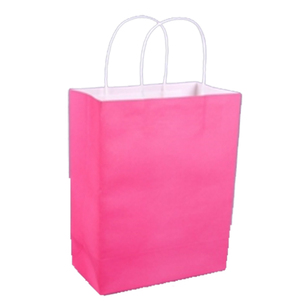 AFBC Square Pocket Shopping Bag Candy 6 Colors Available Eco-friendly Reusable Folding Kraft paper Reusable Folding Shopping Bag