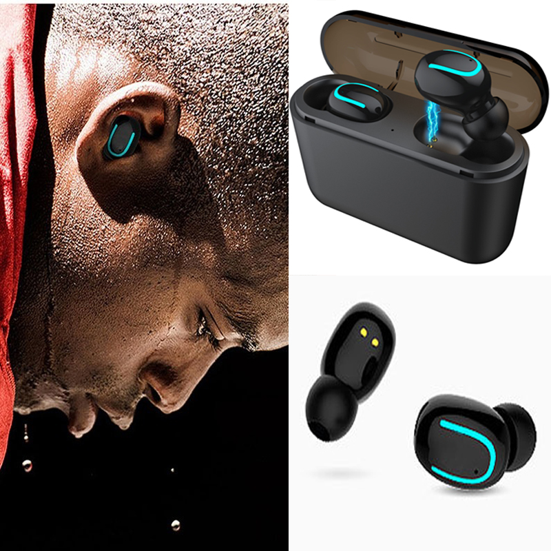 Q32 TWS Wireless Bluetooth Earphone 5.0 Waterproof Bluetooth Headset Stereo Headphone with 1500mah chargingbox for Xiaomi iPhone 网 红 小 姐姐