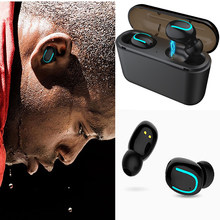 Q32 TWS Wireless Bluetooth Earphone 5.0 Waterproof Bluetooth Headset Stereo Headphone with 1500mah chargingbox for Xiaomi iPhone(China)
