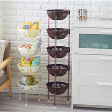 купить 050 Multipurpose Shelf  Kitchen Storage Rack Shelf Multi-layer Refrigerator Side Shelf Kitchen rounded vegetable basket по цене 2254.5 рублей